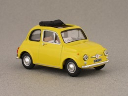 fiat 500 f jaune vitesse 1 43e minicarweb. Black Bedroom Furniture Sets. Home Design Ideas