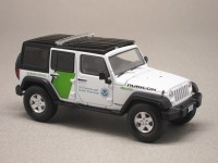 Jeep Wrangler protection des frontières (Greenlight) 1/43e