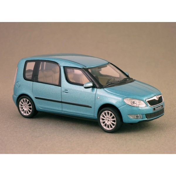 skoda roomster 2010 bleu miami abrex 1 43 minicarweb. Black Bedroom Furniture Sets. Home Design Ideas